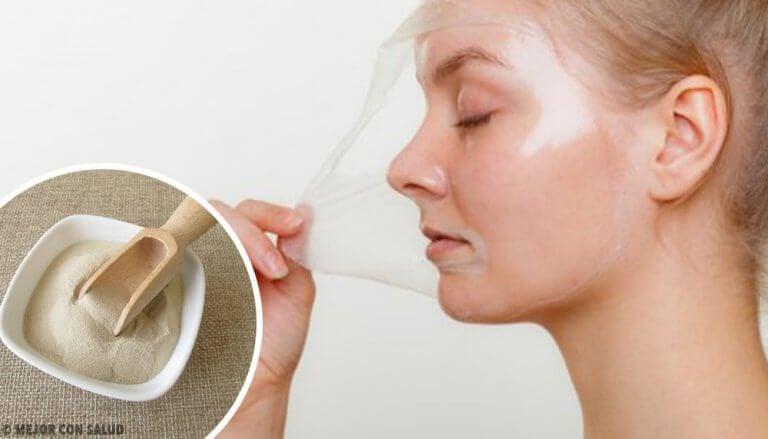 肌を再生するゼラチンマスク