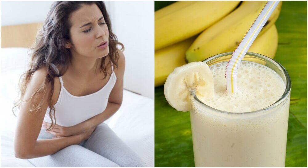 胃潰瘍の痛みを軽減するバナナとジャガイモのスムージー