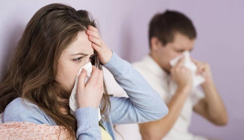 風邪を引いている人たち