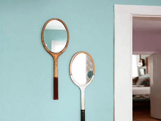 鏡のラケット