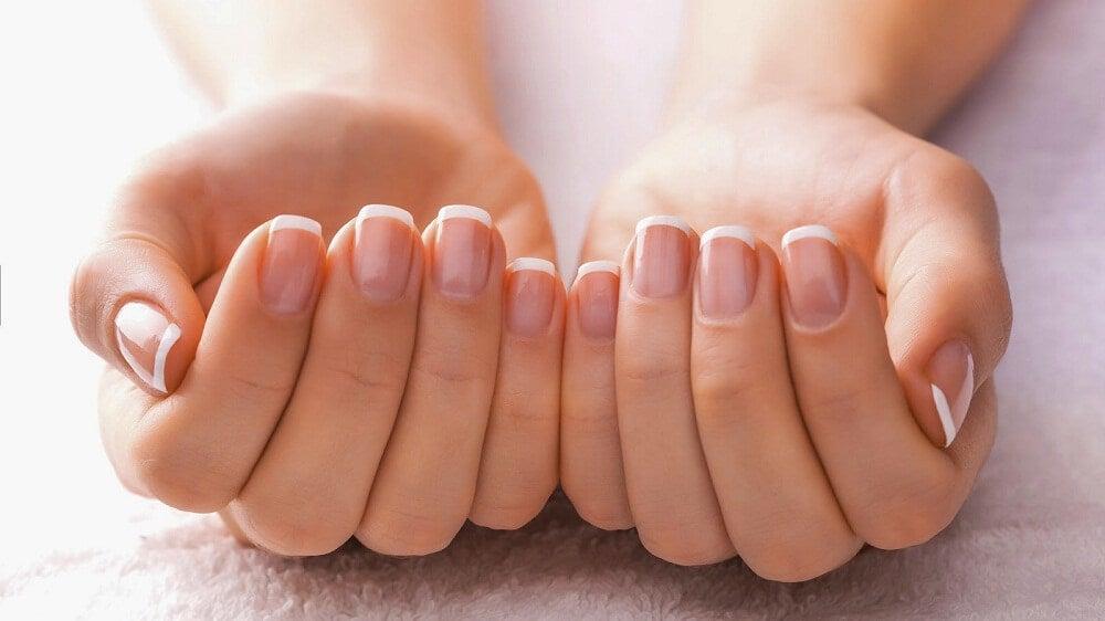 女性の手の爪