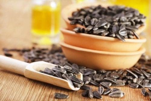 気分を改善する食べ物ひまわりの種