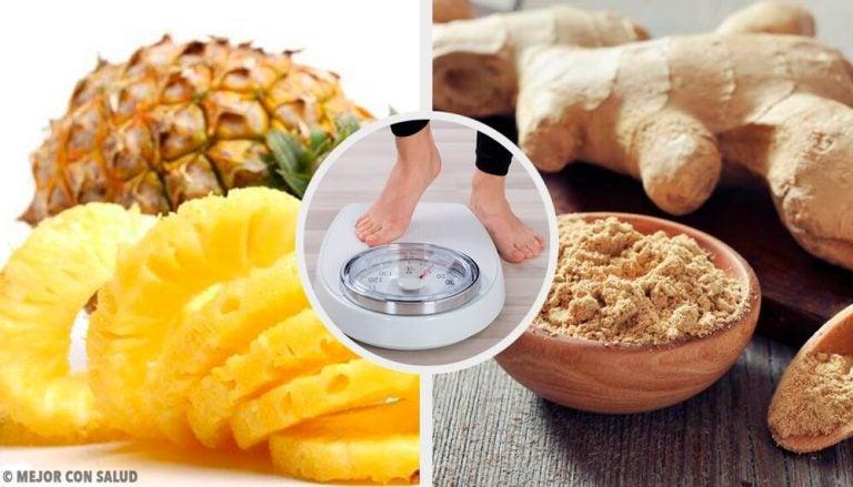 体重ダウンに!パイナップルとショウガのスムージー