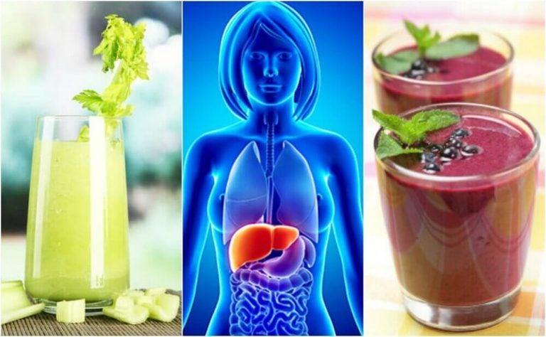 肝臓をきれいにするフルーツと野菜のスムージー4種
