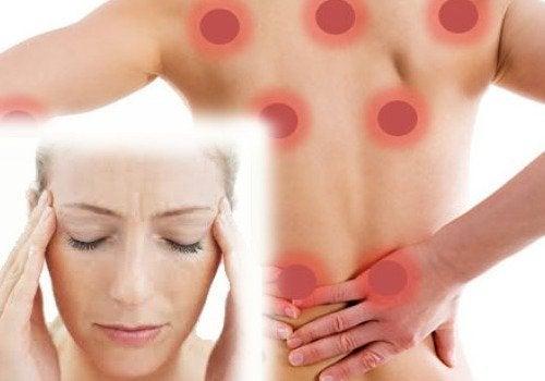背中の痛みと頭痛