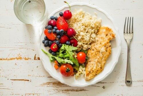 健康な食事プレート