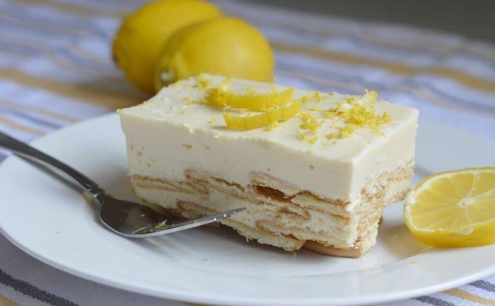 貴族のデザート?レモンビスケットケーキ