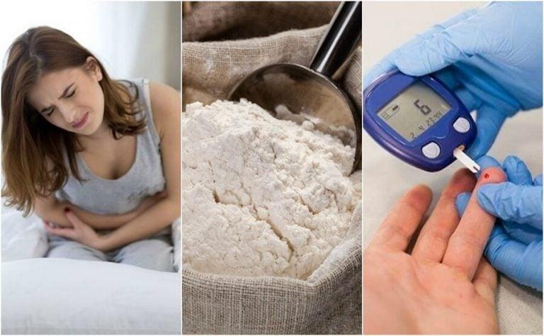精製小麦粉を食べる事によって引き起こされる症状