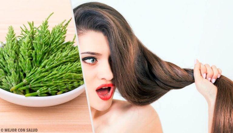 ホーステイルを使って髪を長く美しく