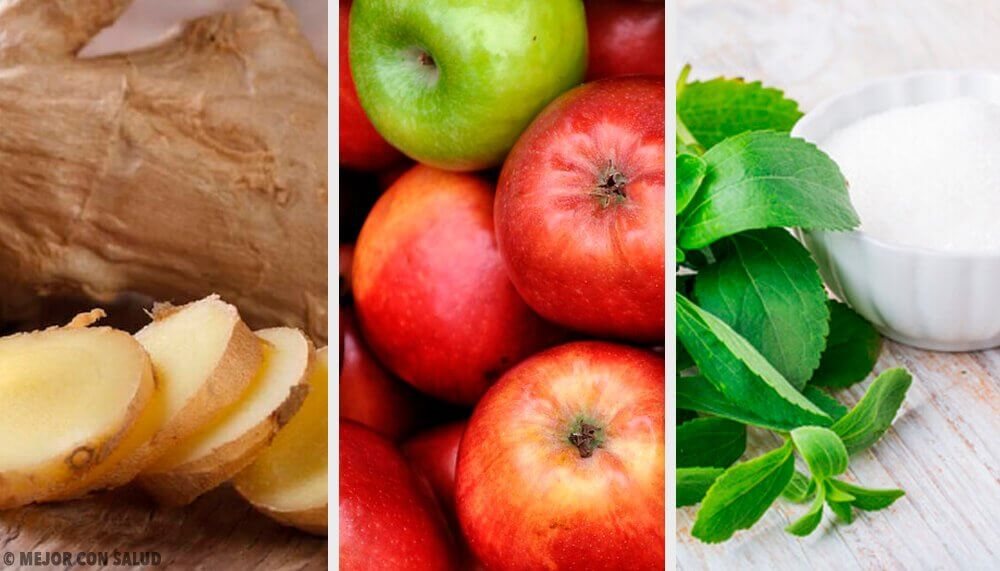 食べ過ぎた後に体内を浄化する生姜・ステビア・リンゴのドリンク