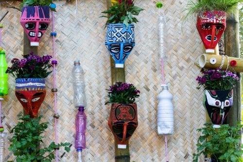 リサイクル品で作る美しい植木鉢
