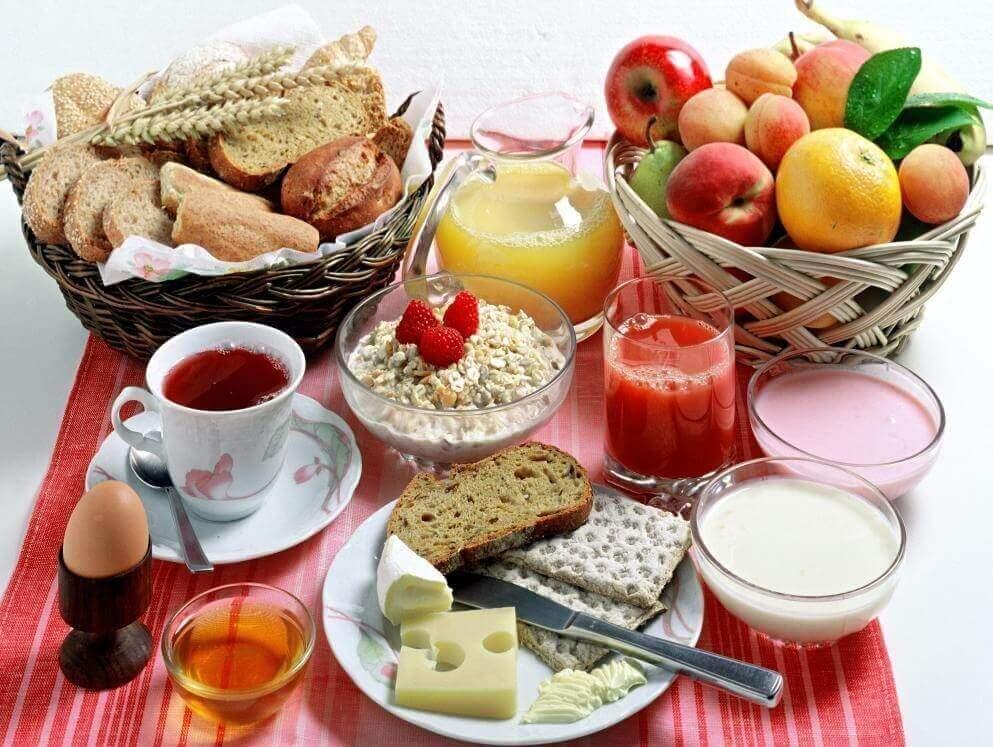 栄養バランスのとれた朝食