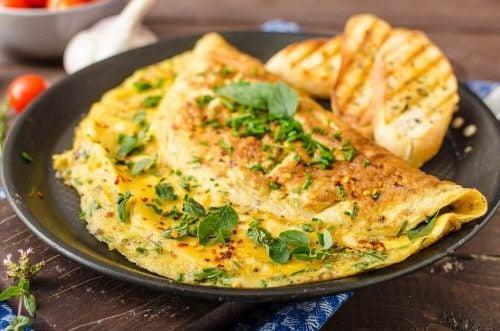 オムレツ 低カロリーな朝食