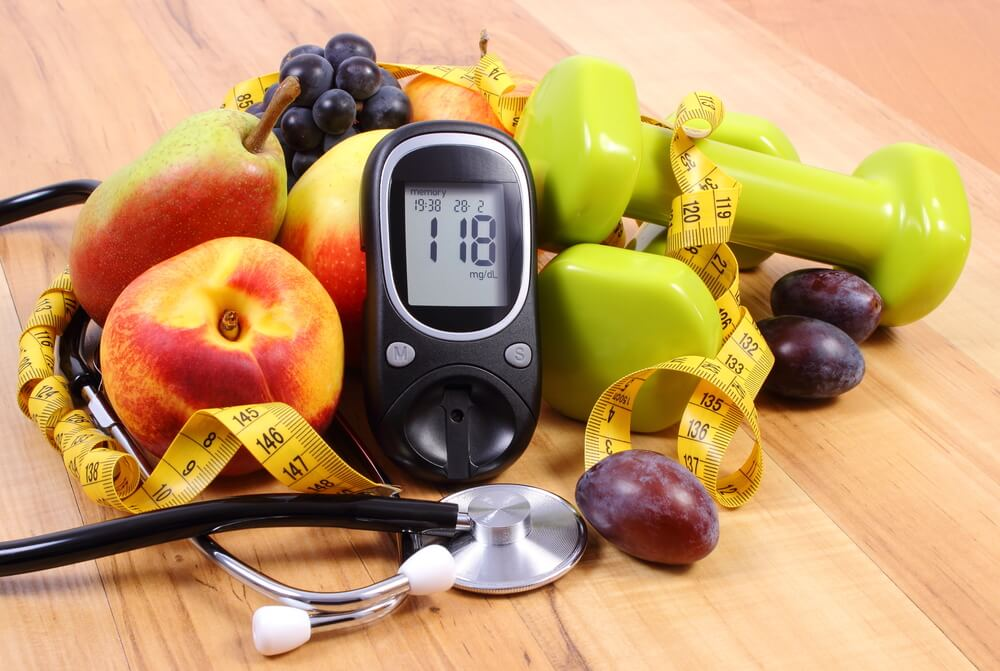 血糖値測定器とくだもの