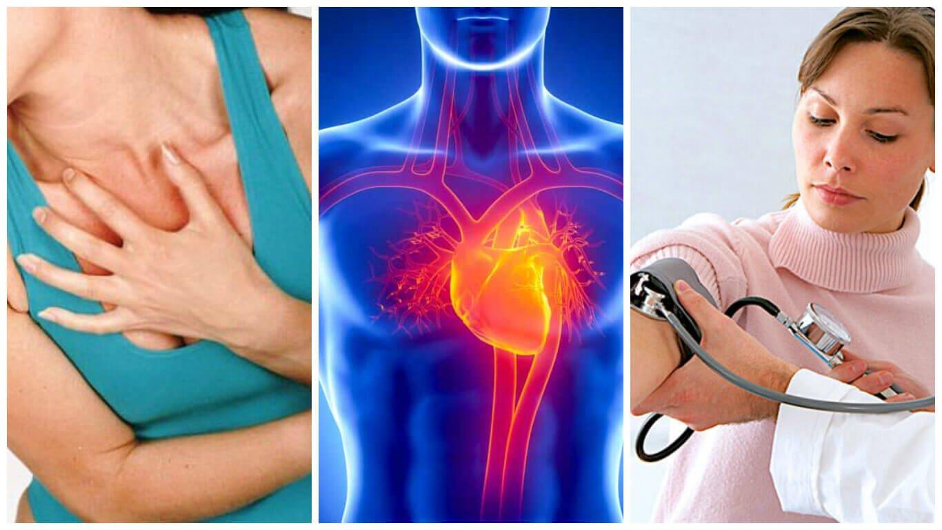 胸を抑える、心臓、血圧測定