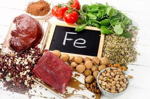 鉄分が豊富に含まれている食品
