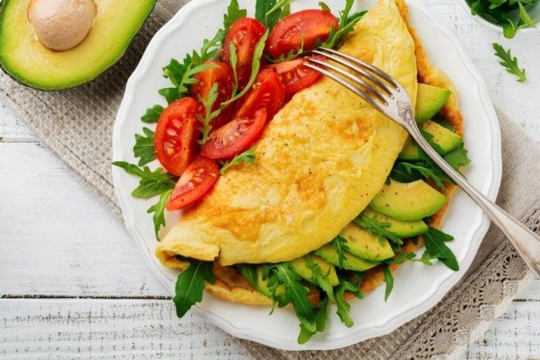野菜オムレツ 健康体重を気にかける