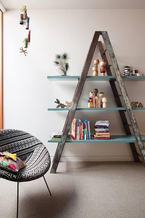 リサイクル 家具:ハシゴの棚