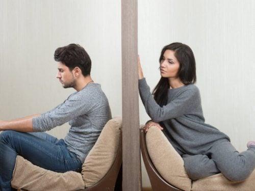 壁で隔たれたカップル