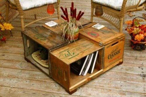 リサイクル 家具:フルーツボックスで作るテーブル