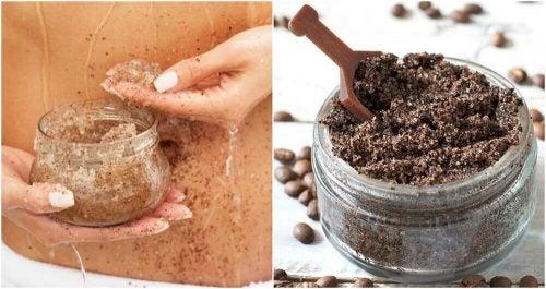 ストレッチマークに効果的なコーヒーとココナッツオイルスクラブ