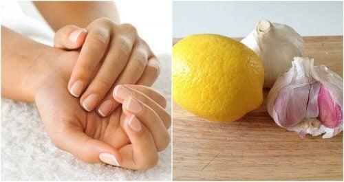 ニンニクとレモンを使って爪を強化する方法とは?