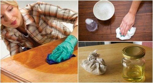 木製家具を磨こう!自家製天然ワックス5種類とその作り方