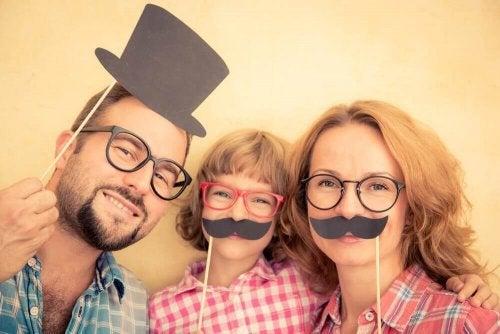 幸せな家族写真'