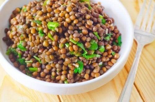 美味しい野菜とレンズ豆のレシピ