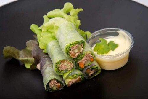 野菜とフルーツで作るおいしいレタスラップ3種
