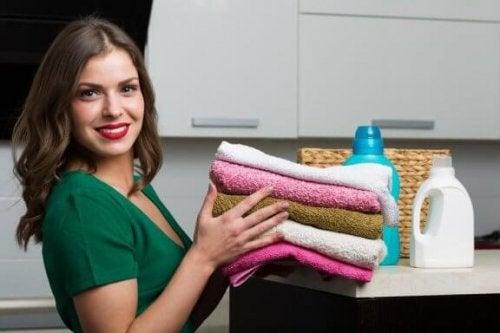 タオル用の自家製柔軟剤を作り方