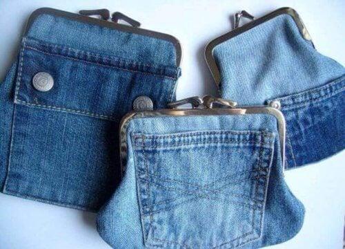 財布 古いジーンズの再利用
