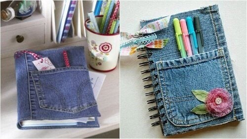古いジーンズ 再利用 ノート