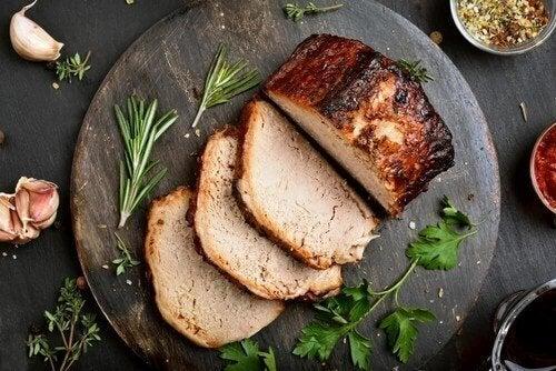 簡単でおいしいブルーチーズと豚ロース肉