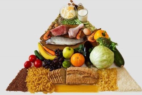 健康的な生活のための新しいフードピラミッド