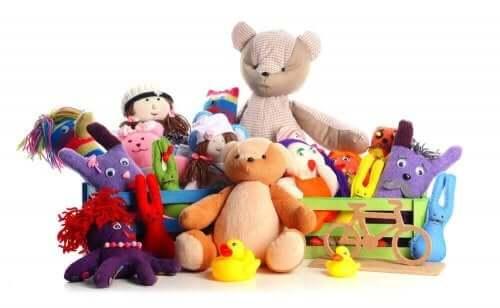 大量のおもちゃ