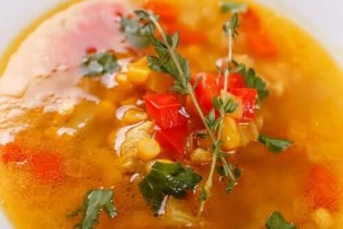 トラルペーニョスープ