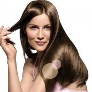 美しく輝く髪