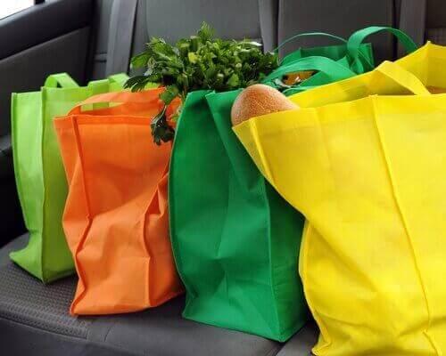 野菜を入れたエコバッグ