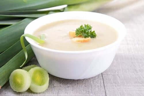マッシュルーム&長ネギ&生姜のクリームスープ