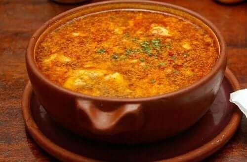 ガーリックスープのレシピ チョリソ
