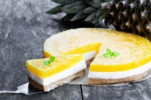 焼かずに簡単!ノーベイクピニャ・コラーダチーズケーキ