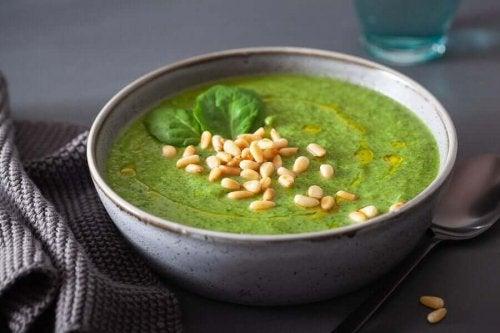 ほうれん草のクリーミースープ 免疫力