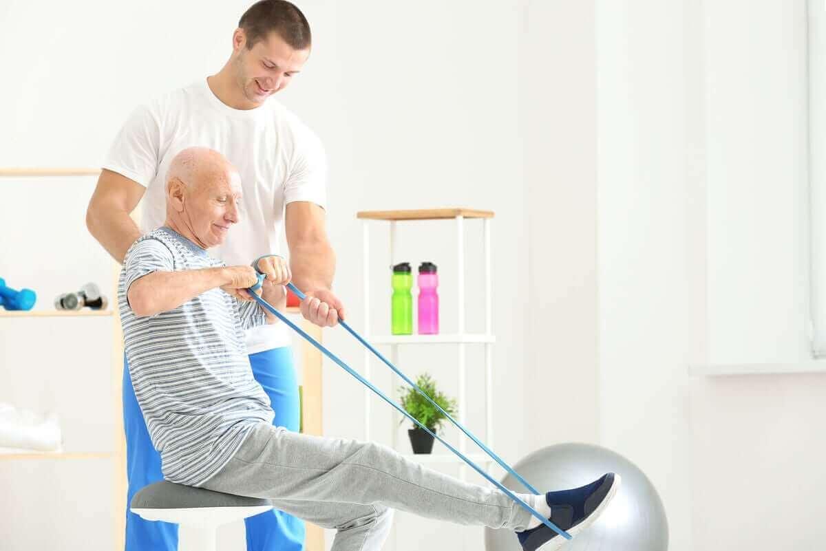 背中を鍛えて強化するレジスタンスバンドエクササイズ 高齢者のエクササイズ